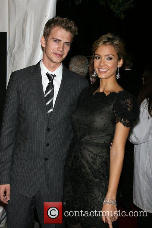 Hayden Christensen and Jessica Alba  Premiere of...