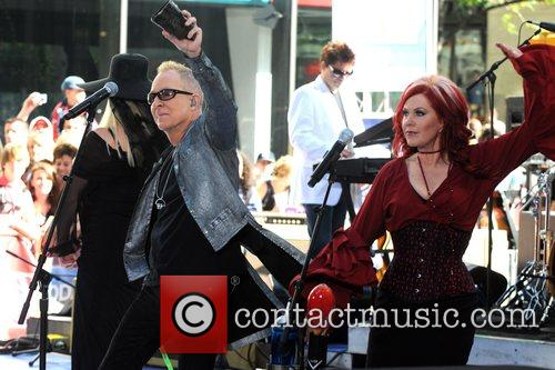 Fred Schneider and Kate Pierson The B-52's perform...