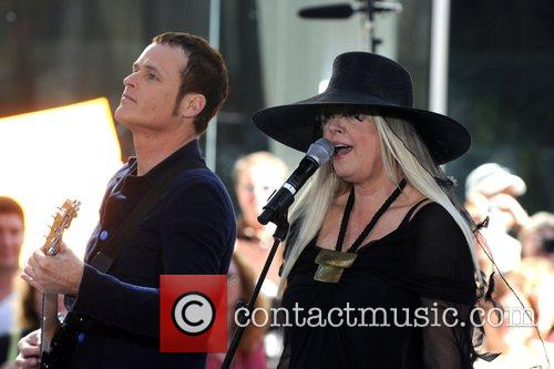 Keith Strickland and Cindy Wilson The B-52's perform...