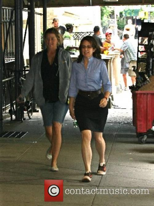 Tina Fey on the film set for 'Baby...