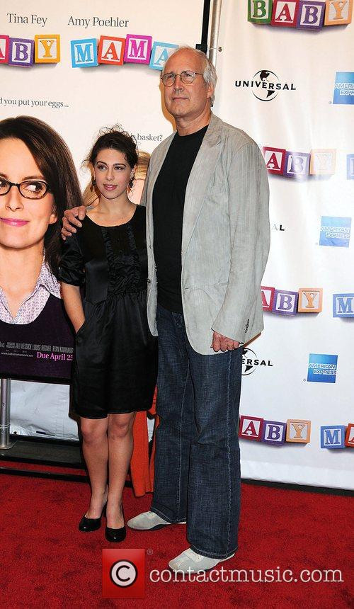 Chevy Chase and Caley Leigh Chase 2008 Tribeca...