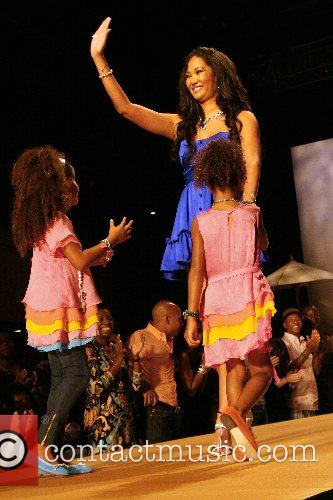 Kimora Lee Simmons and children Mercedes-Benz Fashion Week...