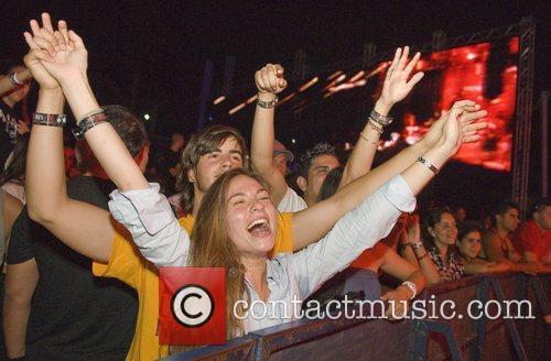 Nick Bofill, Danielle Taylor Bacardi B-Live Miami Concert...