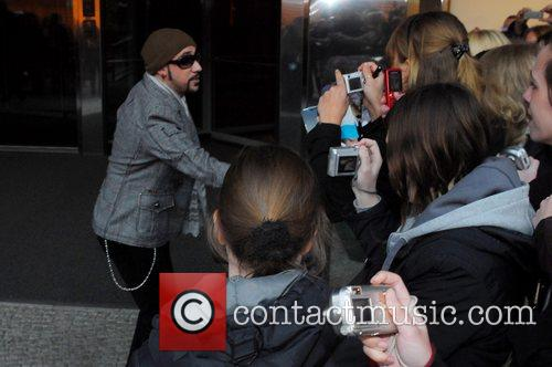 A.J. McLean of the Backstreet Boys leaving the...