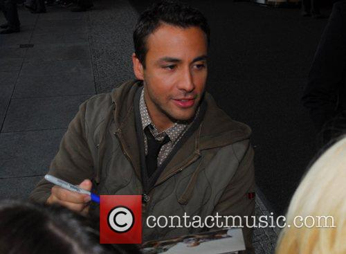 Howie Dorough of the Backstreet Boys leaving the...