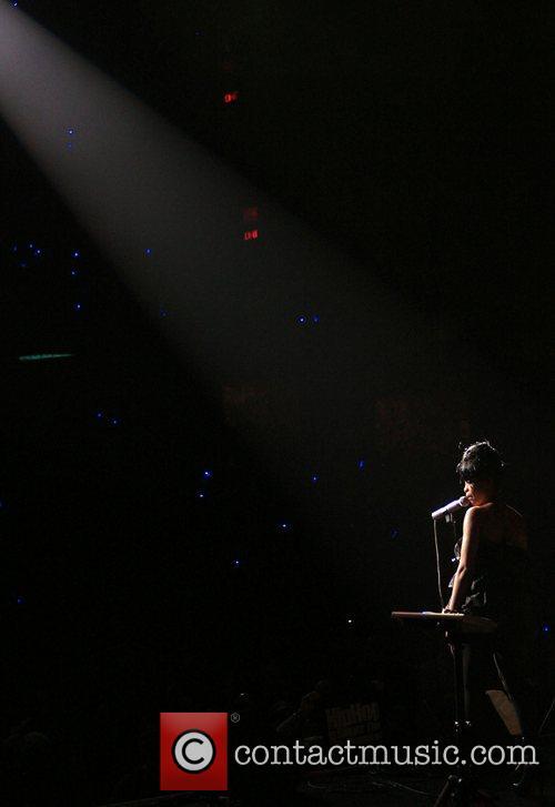 Erykah Badu performing performing live at her 'New...