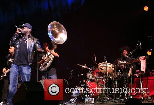 The Roots performing performing live at Erykah Badu's...