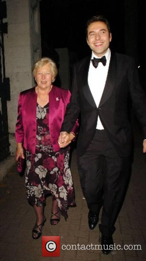 David Walliams and his Mother leaving the BAFTA...
