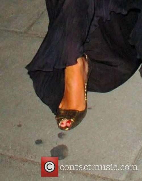 Chantelle Preston leaving the BAFTA after party which...
