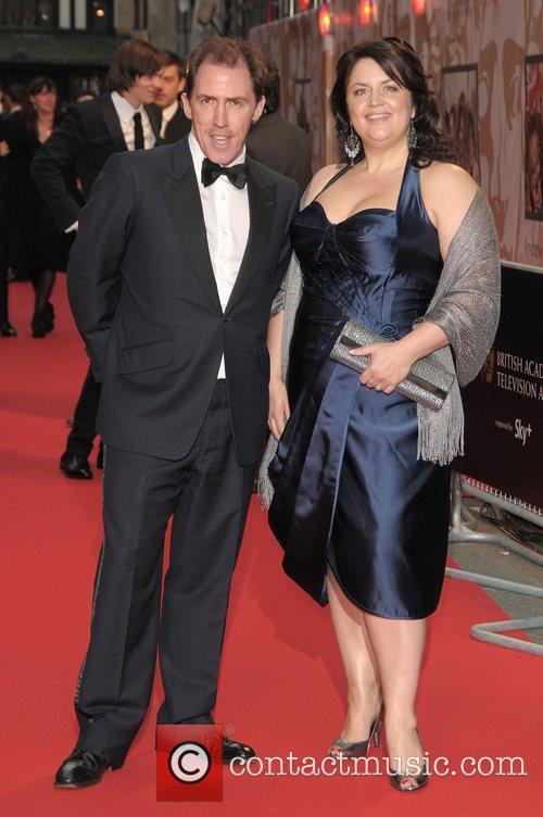 Rob Brydon and Ruth Jones at British Academy...