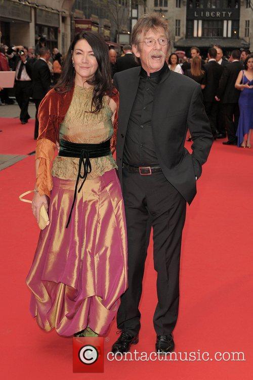 Anwen Rees Meyers and John Hurt  at...