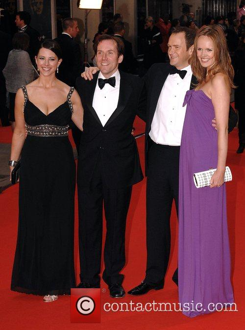 Alexander Armstrong (second right) and guests British Academy...