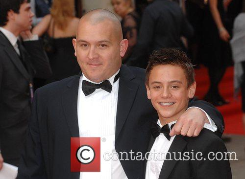 Tom Daley with his father British Academy Television...