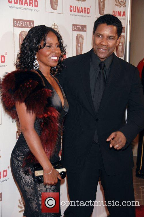 Denzel Washington and His Wife Pauletta Washington 1