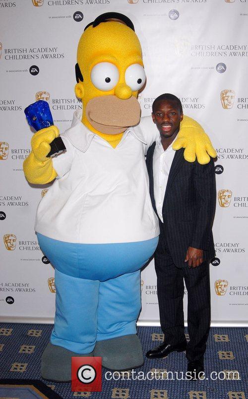 Homer and Shaun Wright Philips British Academy Children's...