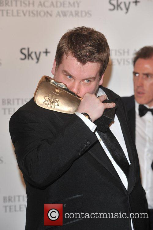 James Corden with the Sky+ Audience Award for...