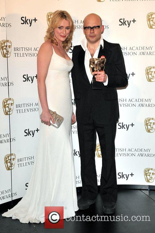 Keeley Hawes and Harry Hill  with his...