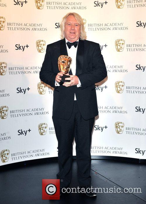 Tony McHale  with the Continuing Drama award...