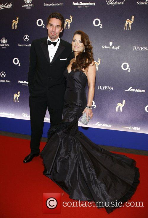 Michael Stich, wife 59th Bambi Awards at Congress...