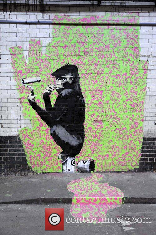 Banksy Painting Chimp