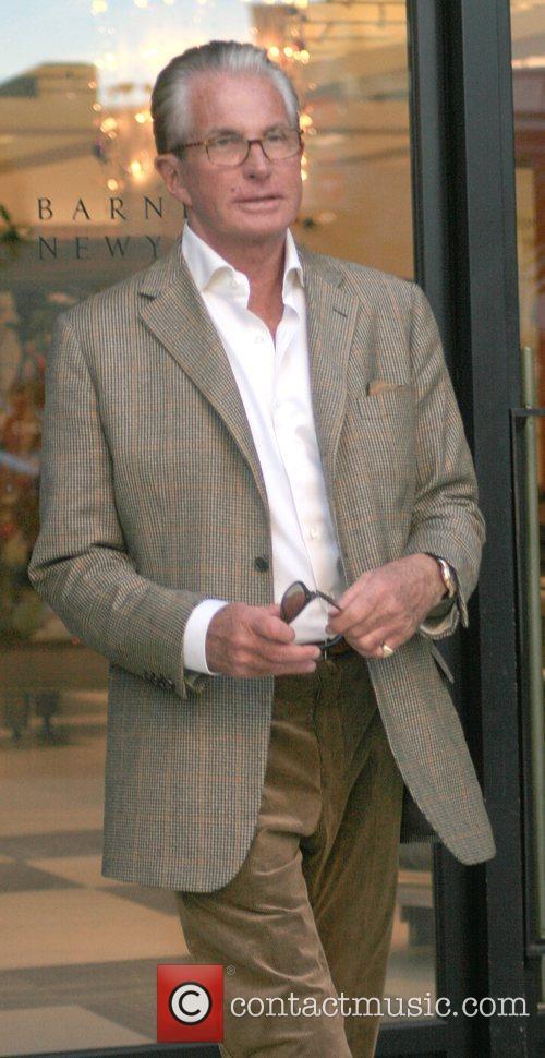 George Hamilton leaving Barney's New York