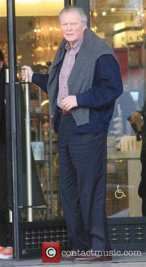 Jon Voight leaving Barney's New York in Beverly...