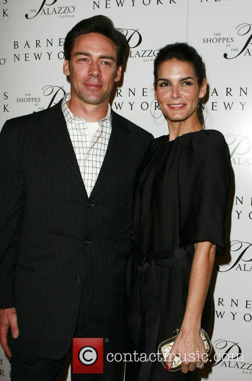 Angie Harmon and Jason Sehorn Grand opening of...