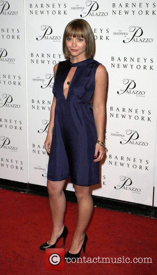 Christina Ricci Grand opening of Barneys New York...