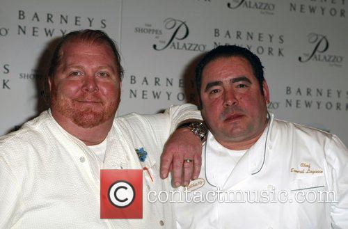 Mario Batali and Emeril Grand opening of Barneys...