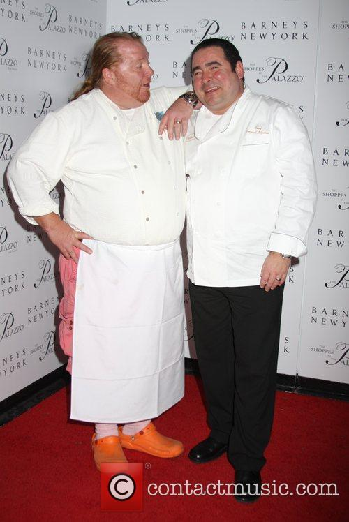 Mario Batali and Emeril Lagasse Grand opening of...