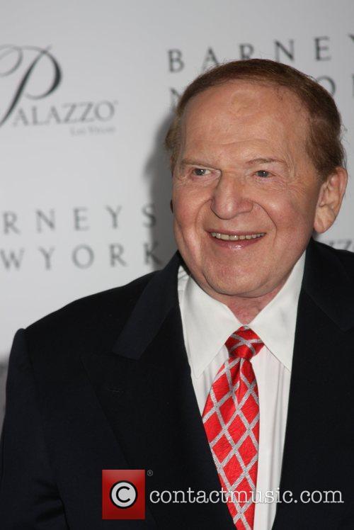 Sheldon Adelson Grand opening of Barneys New York...