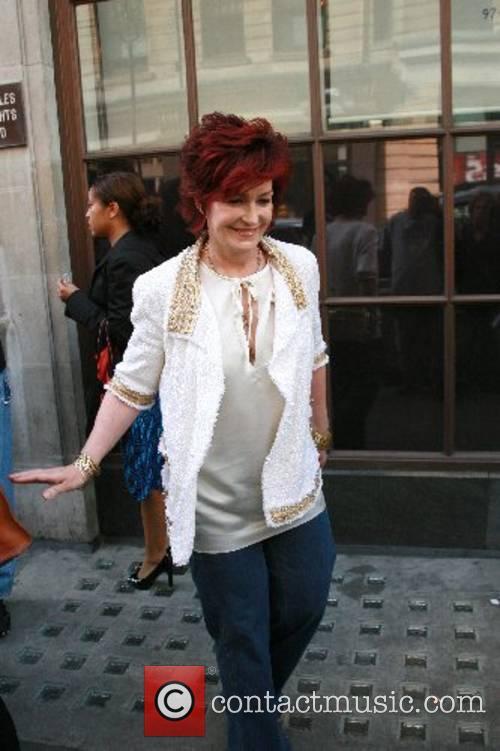 Sharon Osbourne leaves the BBC Radio One studios...