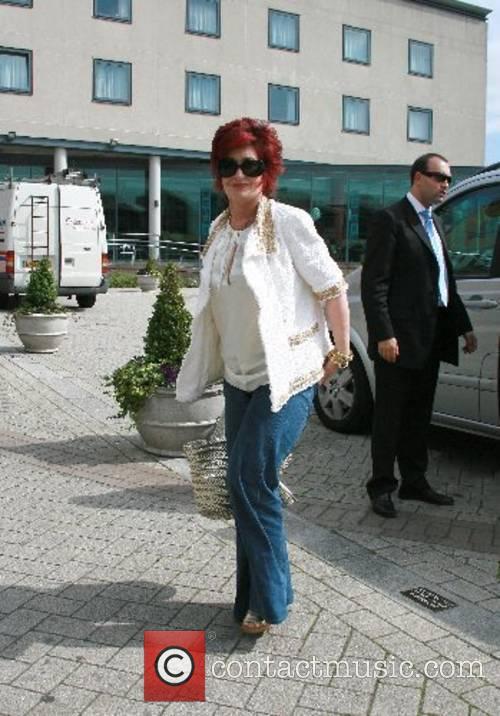 Sharon Osbourne arrives at her hotel after appearing...