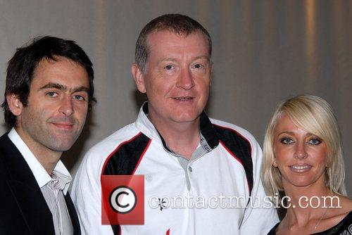 Ronnie O'Sullivan, Steve Davis and Rachel Hunter BGC...