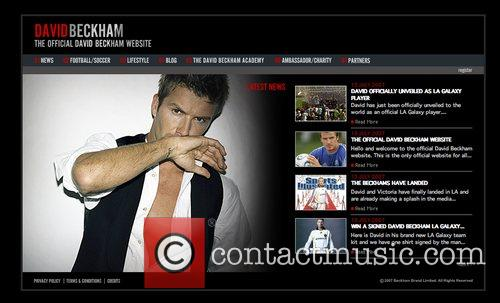 David Beckham has launched his own website where...