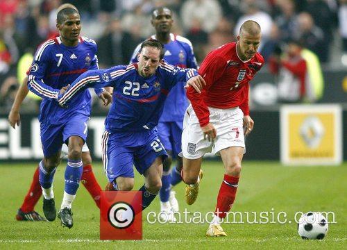 Left to Right: France's midfielder Florent Malouda, defender...