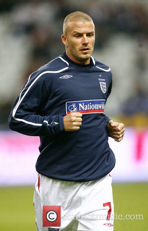 David Beckham of England  France v England...