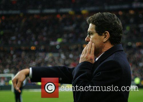 Fabio Capello during France v England - International...