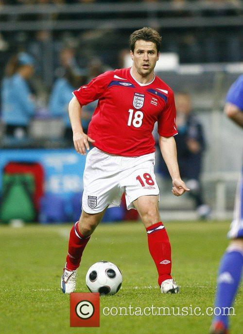Michael Owen during France v England - International...
