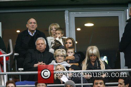 Victoria Beckham, Romeo Beckham, Brooklyn Beckham and Cruz...