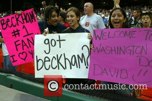 David Beckham fans LA Galaxy v DC United...