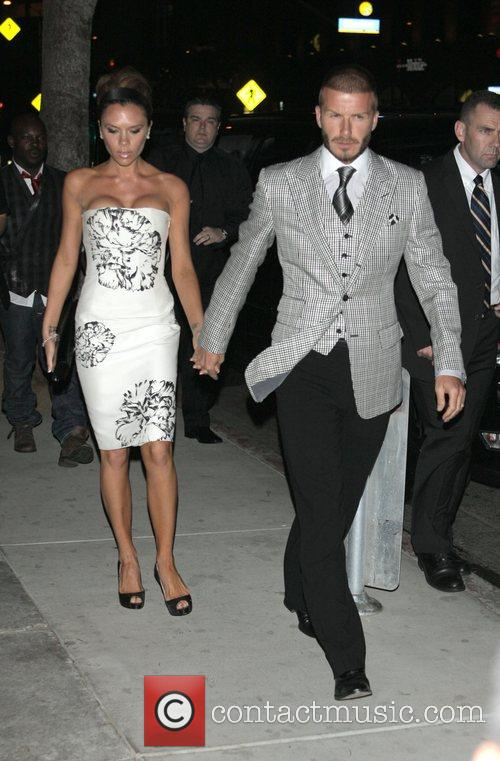 David Beckham and Victoria Beckham go to dinner...