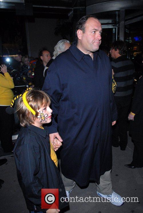 James Gandolfini and Michael Gandolfini New York premiere...