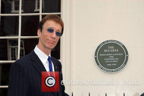 Robin Gibb The Bee Gees blue plaque unveiling...