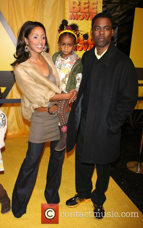 Malaak Compton and Chris Rock with daughter Zahra...