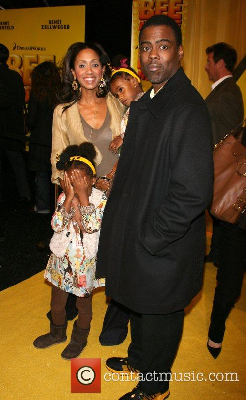 Malaak Compton and Chris Rock with daughters Lola...