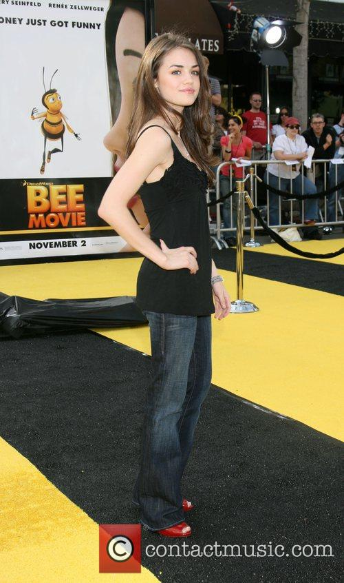 Lucy Hale Los Angeles film premiere of 'Bee...