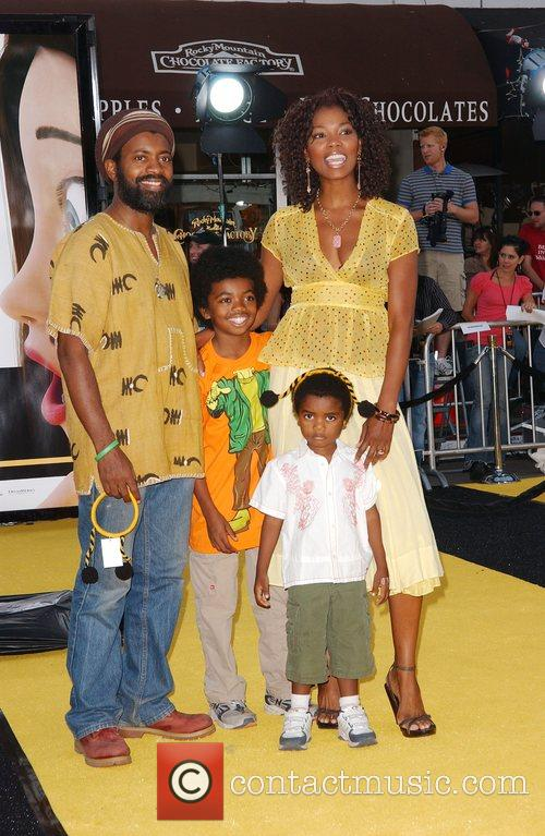 Andre Wiseman, Vanessa Williams and children Los Angeles...