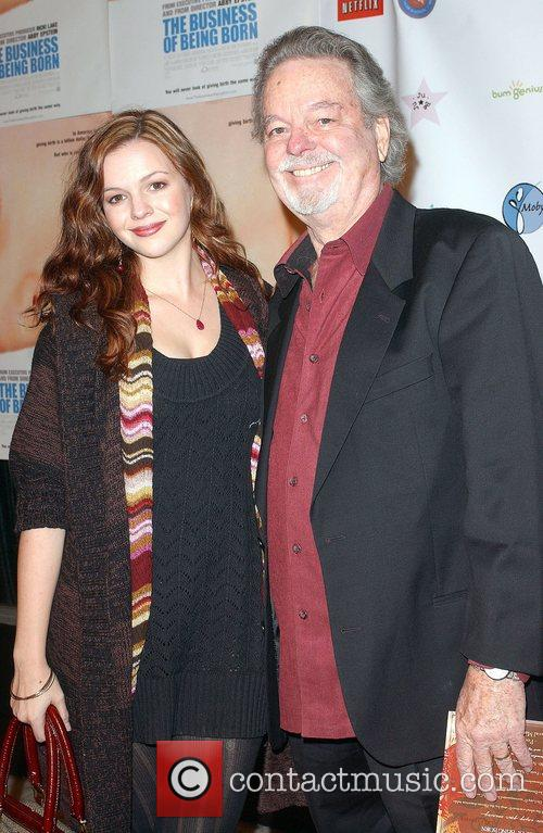 Amber Tamblyn and father Arrivals - 'The Business...