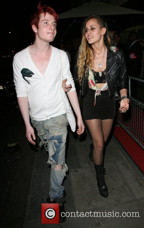 Alice Dellal with a friend Belvedere Vodka Jagger...